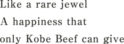 Like a rare jewelA happiness that only Kobe Beef can give